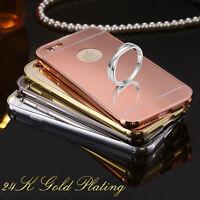 Slim Aluminum Metal Bumper Mirror Back Cover Case for iPhone 7 6s 6 Plus SE 5s 5