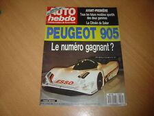 Auto hebdo N°714 Mercedes 300 CE-24.Peugeot 905