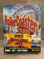 Rollercoaster Tycoon Added Attractions Pack (pc: Windows) Big Box