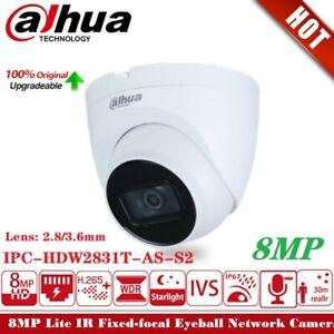 Dahua IPC-HDW2831T-AS-S2 4K 8MP Starlight POE WDR H.265 IP67 Network IP Camera