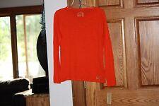NWT Michael Kors American Womens Orange  Blouse Top Long Sleeved T Shirt Medium