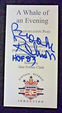 Brooks Robinson Autograph 2007 Hall Of Fame Induction Ticket Ripken Gwynn Auto