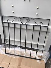 METAL GARDEN BLACK HEAVY WROUGHT IRON SMALL GATES MODERN STEEL FENCE as a GATE