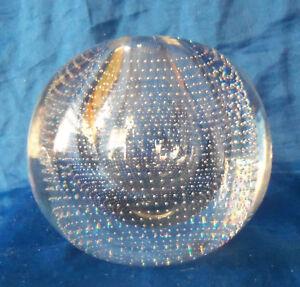 A.  D. Copier Designed Crystal Nail Globe by Neerdam Glaswerk