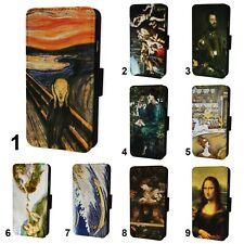 Iconic Art Paintings Flip Phone Case Cover Wallet - Fits Iphone 6 7 8 X 11