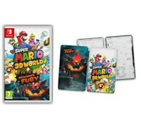 Super Mario 3D World & Bowser's Fury Steelbook Edition New Sealed Free UK P&P