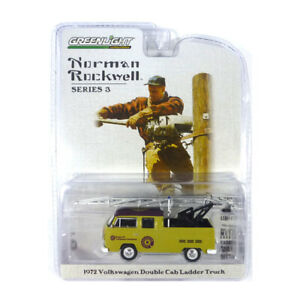 Greenlight 54040-F VW T2 Double Cab Ladder Truck Gelb-Norman Rockwell 1:64 New