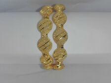 Ethnic 2PC Gold Plated Indian Bollywood Jewelry Bangles Bracelets Kada Set