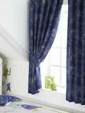 BLUE CASTLES  KIDS CHILDRENS TAPE TOP  LINED CURTAINS 66x72 INCHES