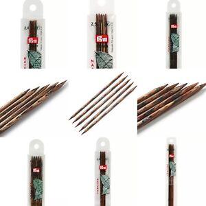 PRYM Stocking knitting needles, Natural, Various Sizes, 15 - 20cm / 2.00- 8.00mm
