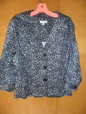 pre-owned womens cheetah print jacket by Joan Rivers size M