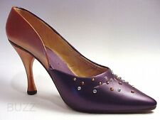 Patricia in Plum & Copper 2 Toned Sprinkled Rhinestone Pump Just the Right Shoe