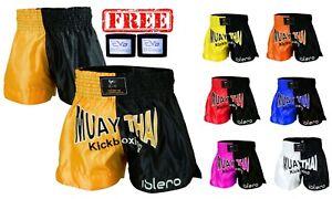 ISLERO Muay Thai Fight Shorts MMA Kick Boxing Grappling Martial Arts Gear UFC H