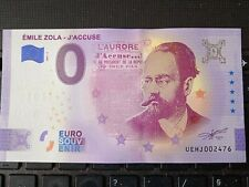 BILLET EURO SOUVENIR 2021-4 EMILE ZOLA J'ACCUSE ANNIVERSAIRE