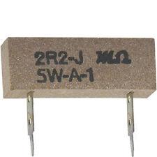 10 Stück Hochlast Drahtwiderstand 2,2 Ohm 5 Watt RM-17,5 mm ohne RoHS