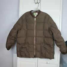 VTG WOODS Goose Down Filled Mens XL Extra Large Brown Puffer Jacket Coat Canada