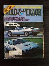 Road & Track Oct 1977 BMW E-26 - Phil Hill Ferrari 125 - Lamborghini  Saab Turbo