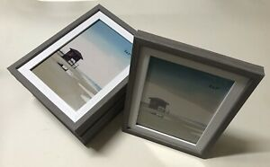 """(6 PACK) 5x7"""" Photo Picture Frame - Grey and White Veneer [New, Room Essentials]"""