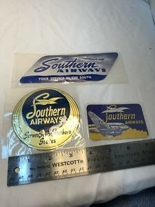 3 Southern Airways Luggage Or Cargo Decals Never Used