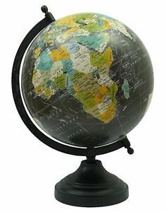 Globe World Map Antique Globe Beautiful Table Decor Home Office Globe Black