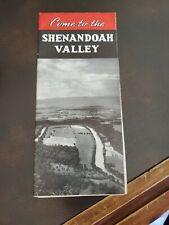 Vintage Tourist Brochure 1940s Visit the Shenandoah Valley