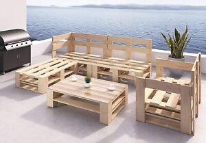 Palettenmöbel Holz Lounge Gartenmöbel Indoor und Outdoor Europaletten Möbel