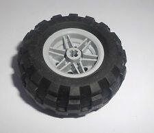 Lego 4 Reifen 30.4x14 mit Felge in alt hellgrau aus 8473 7035 4117 30285c01