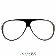 Black Diffraction Glasses - Great w/ Glow sticks LED Gloves Orbit Laser rave