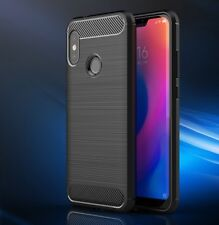 For Xiaomi Mi A2 Lite Case Carbon Fibre Cover & Glass Screen Protector