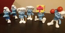 Lot of 6, 2011 smurf/ Smurfs movie McDonald's happy meal figures.