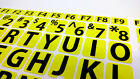 English US LARGE LETTER KEYBOARD STICKERS for Computer or Laptop, YELLOW