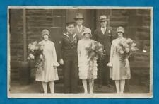 1920'S RP PC WEDDING OF LEADING TORPEDOMAN FROM TORPEDO GUNBOAT