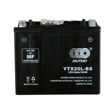 Motorcycle YTX20L-BS 12v 18ah  Charge Battery fit Yamaha Multi Models Black