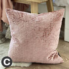 "Luxury Shimmering Blush Pink Velvet Abstract 18"" Cushion Covers Geometric Modern"