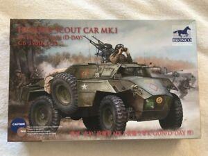 Bronco 1/35 Humber Scout Car w/Twin K Gun (D-Day) plastic model kit 35016