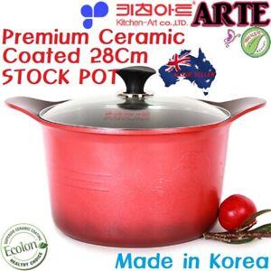 Kitchen Art Premium Ceramic coating 28cm Deep Stock pot 100% Non-toxic,Non-stick