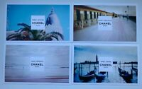 CHANEL VIP GIFT postcard set 4x deaville venise riviera biarrritz