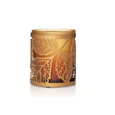YANKEE CANDLE AMBER LEAVES TEA LIGHT CANDLE HOLDER- BRAND NEW IN BOX