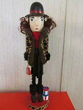 Shoe Shopper Holiday Diva  Nutcracker Black Boots Hat Leopard Jacket