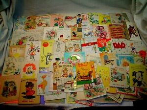 BIG LOT 320 VINTAGE 1940's 1950's GET WELL 1960's 1970's BIRTHDAY GREETING CARDS