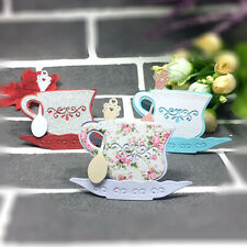 A5 Dies TEA PARTY Bunting Jug Cake Stand Tea Pot Cup Jar Use in Xcut or Similar