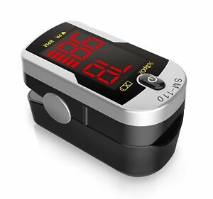 Deluxe SM-110 Two Way Display Finger Pulse Oximeter with Carry Case and Neck/...