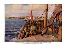 Türkische Armee vor Gallipoli XL Kunstdruck 1916 Flagge Türkei Soldaten WK 1