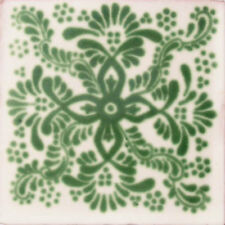 #C040) Mexican Tile sample Ceramic Handmade 4x4 inch, GET MANY AS YOU NEED !!
