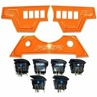 Orange 3 Pc Polaris RZR XP1000 900S Dashboard Panel Rocker Switches 2015 2016