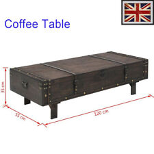 Solid Wood Bench Coffee Table Pub Vintage Style Home Furniture Chest 120x55x35cm