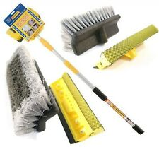 Telescopic Car Wash Brush Extendable 3m Water Fed Cleaning Boats Vans Windows