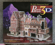Puzz 3D  Bavarian Mansion By Wrebbit 418 Pc 100% Complete Average Difficulty