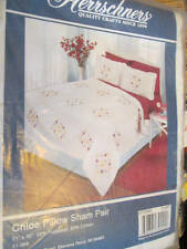 Herrschners Chloe Pillow Sham Pair To Embroider-21x30 Inches