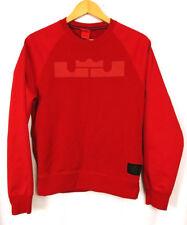 Nike Mens Size Small Lebron James Pullover Sweatshirt Red LJ Crown Big Logo
